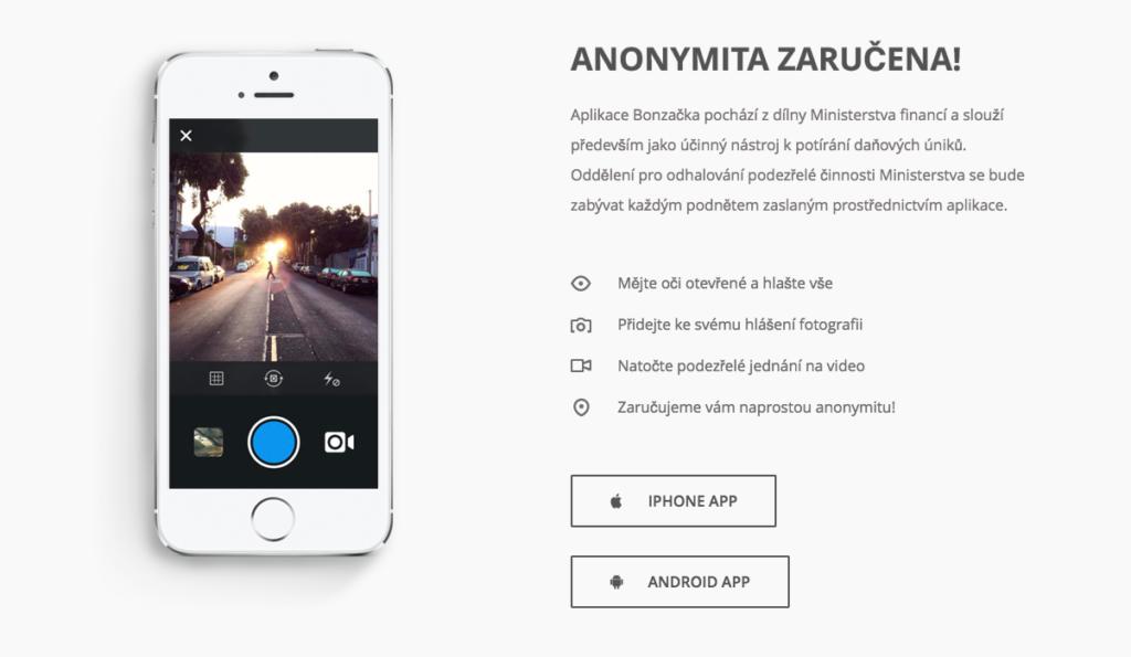EET aplikace Bonzacka