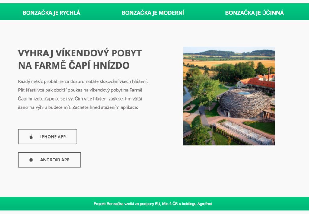 EET - aplikace bonzacka - Farma capi hnizdo