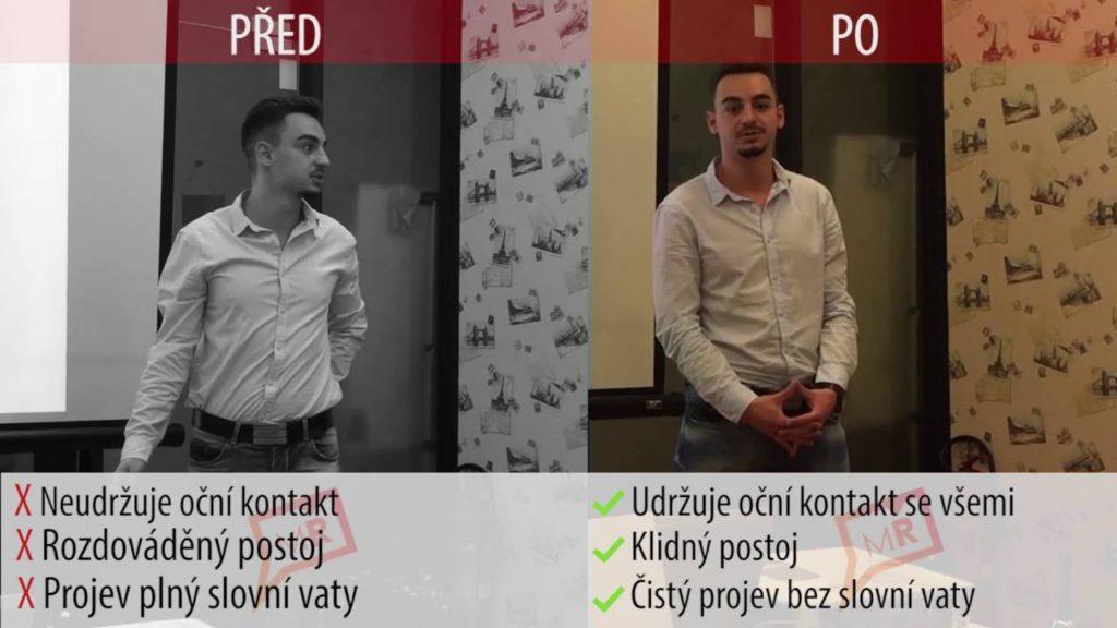 Minutový řečník - výsledky před a po kurzu