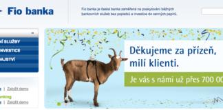 Fio banka - 700 000 klientů