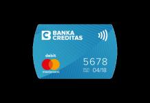 Bezkontaktní platební nálepka - Banka CREDITAS