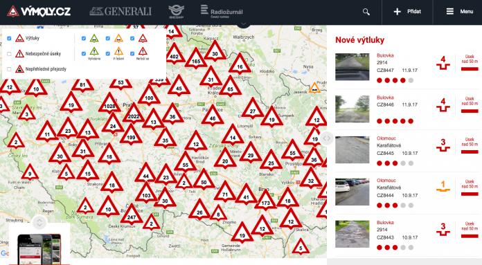 Vymoly.cz - anketa Nejhorší silniční díra republiky