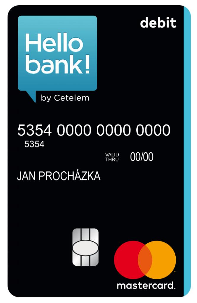 Debetní karta Hello bank