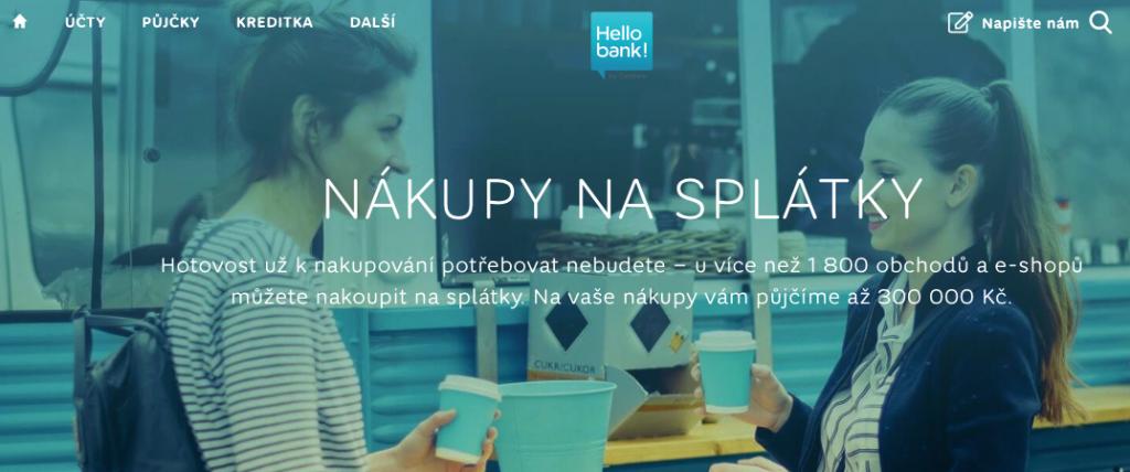 Nákupy na splátky s Hello bank!