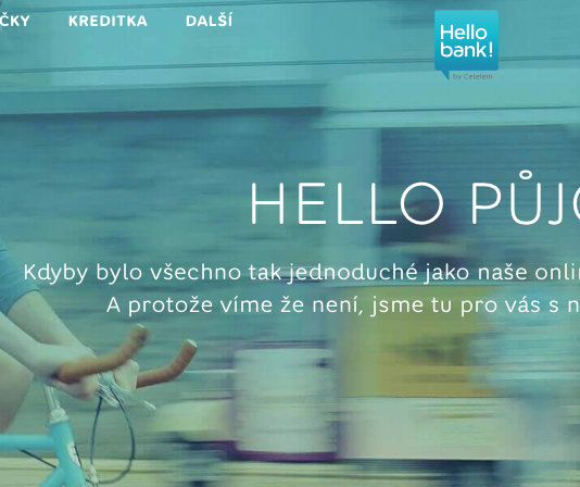 Půjčka od Hello bank!