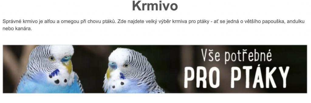 Zoohit krmivo pro ptáky