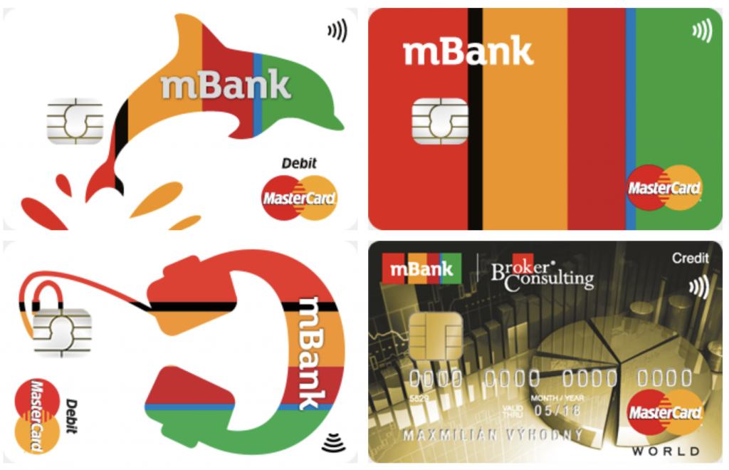 mBank - kreditní a debetní karty