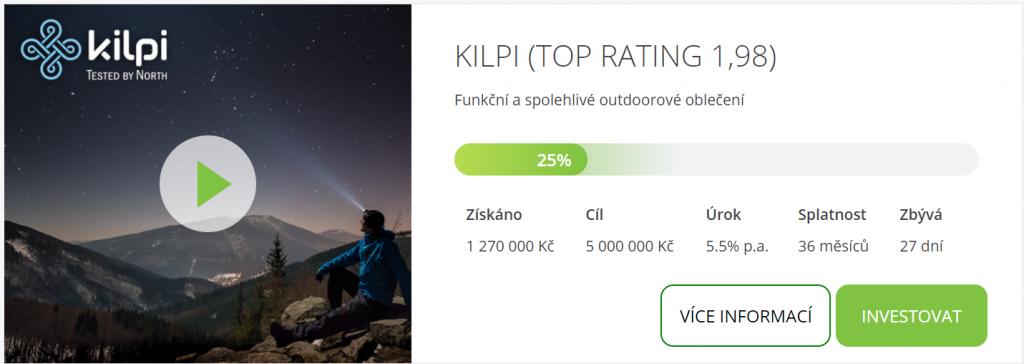 Kilpi crowfundingové financování na finGOOD.cz