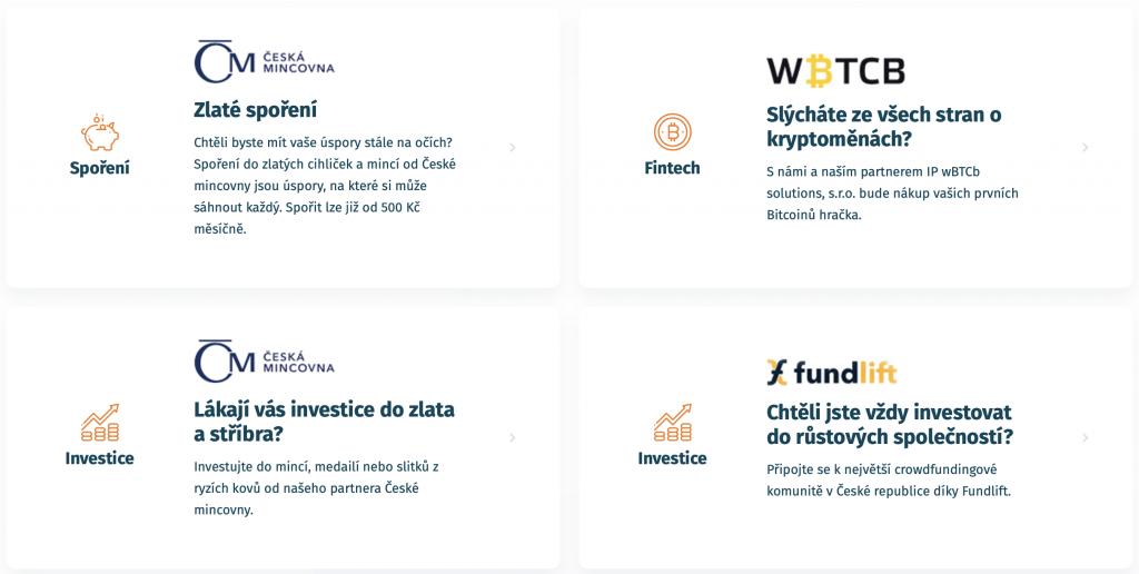 NEO účet - to jsou fintech služby, investice a spoření