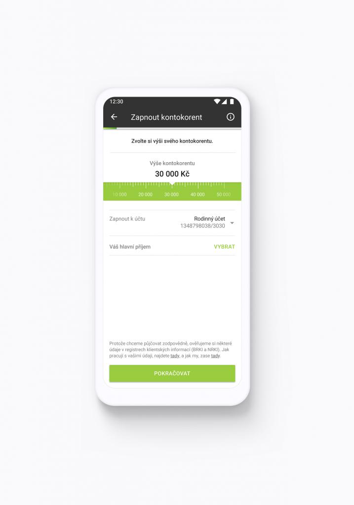 Air Bank kontokorent pohodlně z mobilu