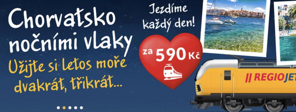 Chorvatsko vlakem od Regiojet