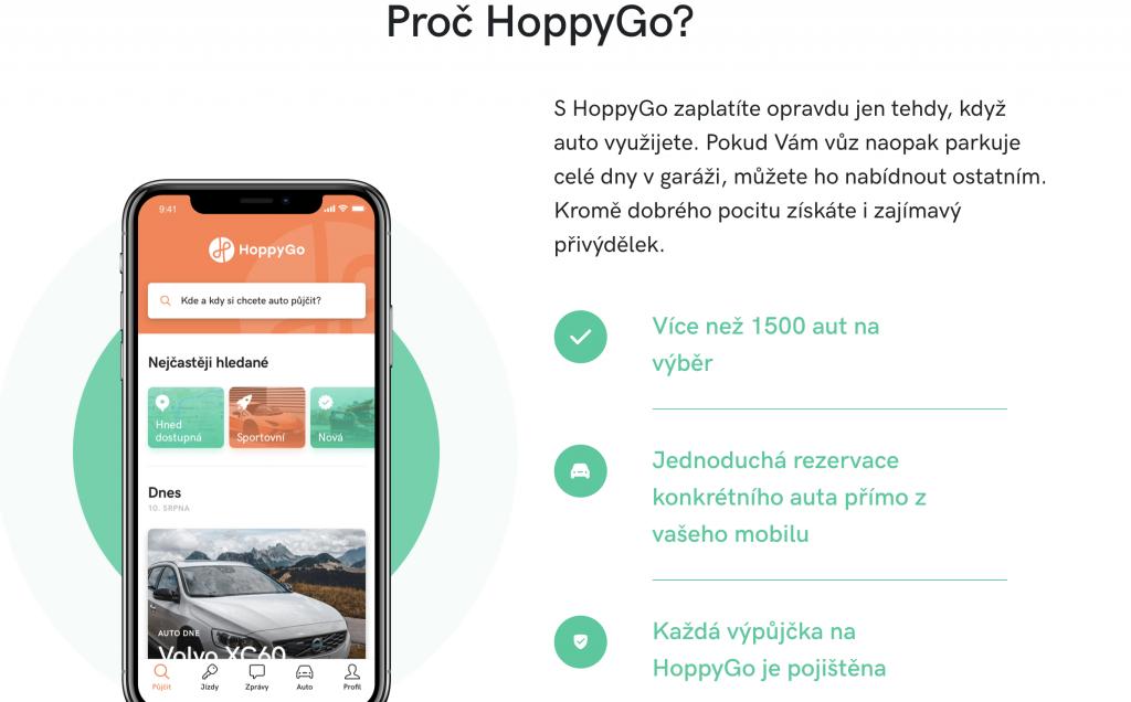 HoppyGo - sdílení aut