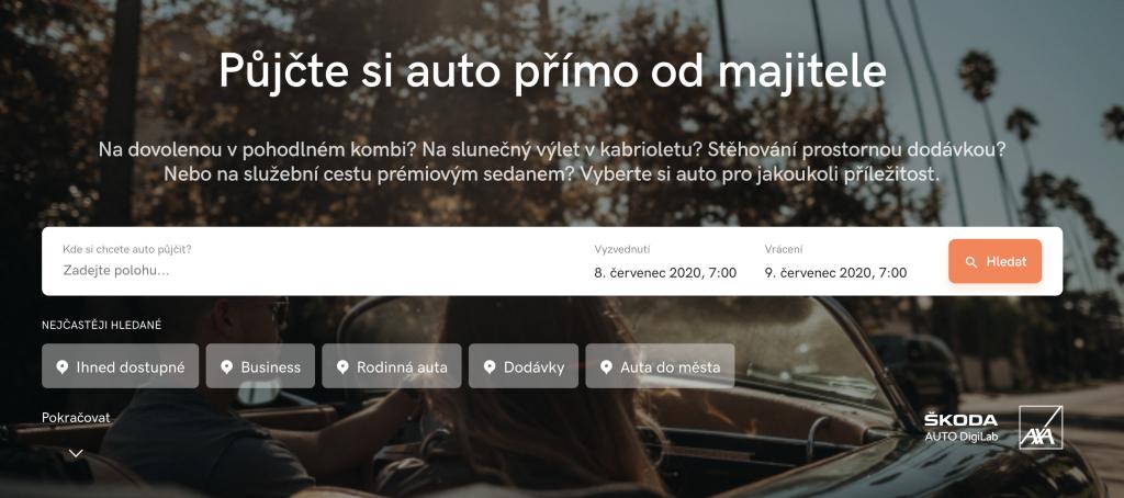 HoppyGo sdílení aut - carsharing